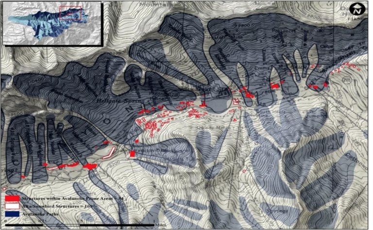 Little Cottonwood Canyon - Structures within Avalanche Prone Areas